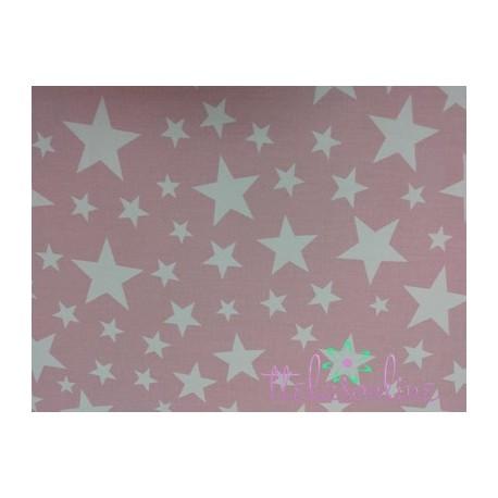 Sarga estrellas rosa empolvado