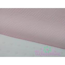 Pique labrado circulo grande rosa bebé
