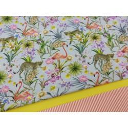 Combinación algodon animal print
