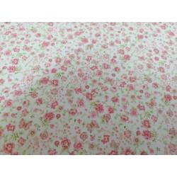 Algodón miniflores rosa bebe