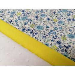 Combinación algodón estampado en azules