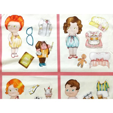 Paper dolls profesiones cuadro