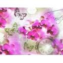 Tela de Sarga de algodon con estampado floral