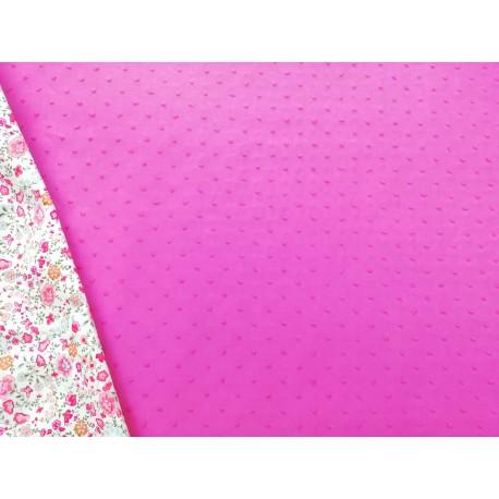 Tela de plumeti rosa fuerte