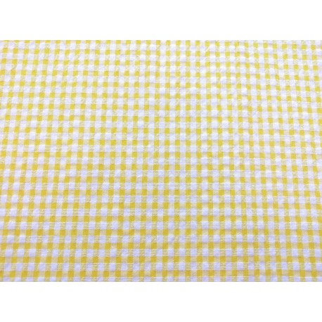 Cuadritos tipo vichy en amarillo
