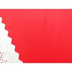 Viyela lisa en rojo