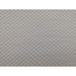 Tela de punto acolchado gris perla
