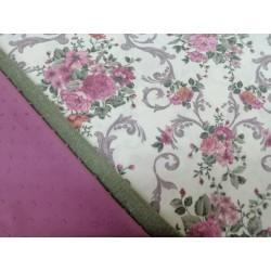 Combinación estampado flores rosa y verde