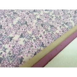 Combinación estampado flores en rosa y tostados