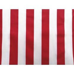 Sarga rayas rojo y blanco