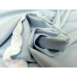 Lino celeste con minitopito blanco