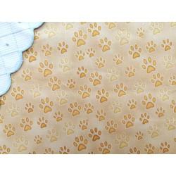 Tela de  algodón con estampado de huellas