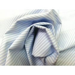 Tela de  algodón rayas en celeste bebe