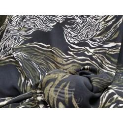 Tela gasa negra estampado animal print