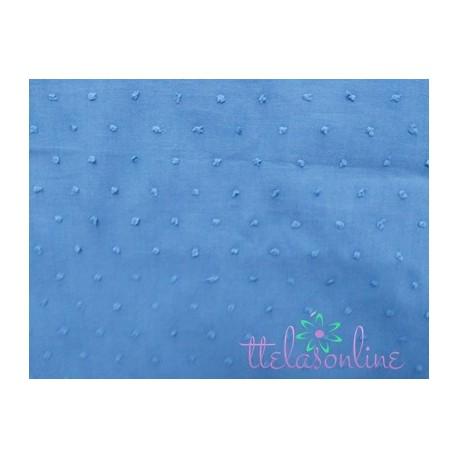 Tela de plumeti  azul medio