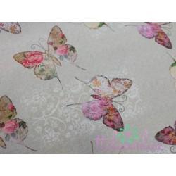 Algodón con mariposas