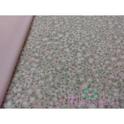 Villela flores rosadas, fondo beige